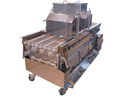 2 troughs nuts spreading machine